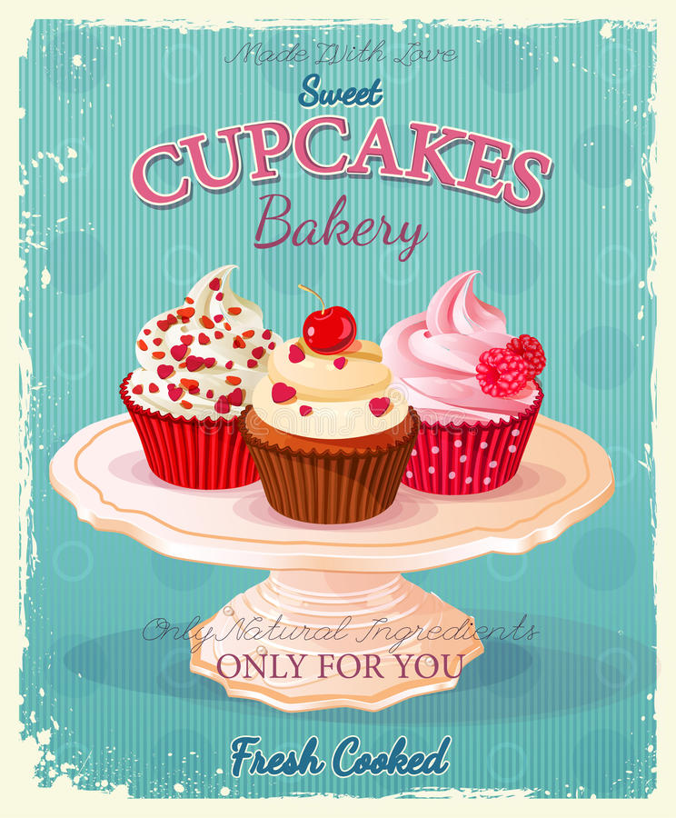cupcakes illustrazione di stock