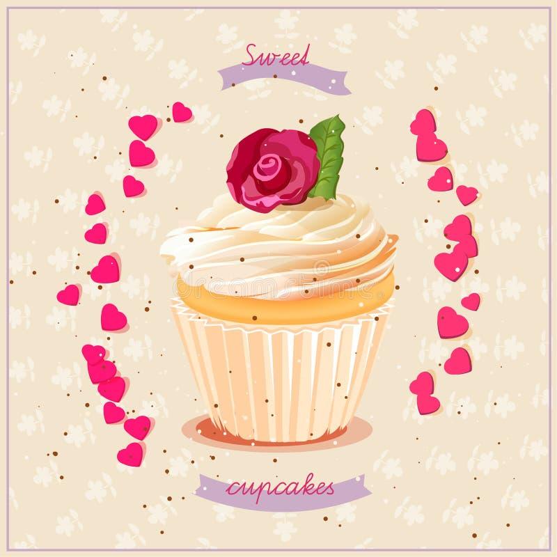 cupcakes illustrazione vettoriale