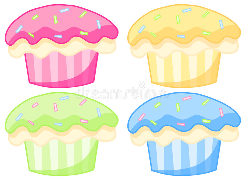 Cupcakes royalty free illustration