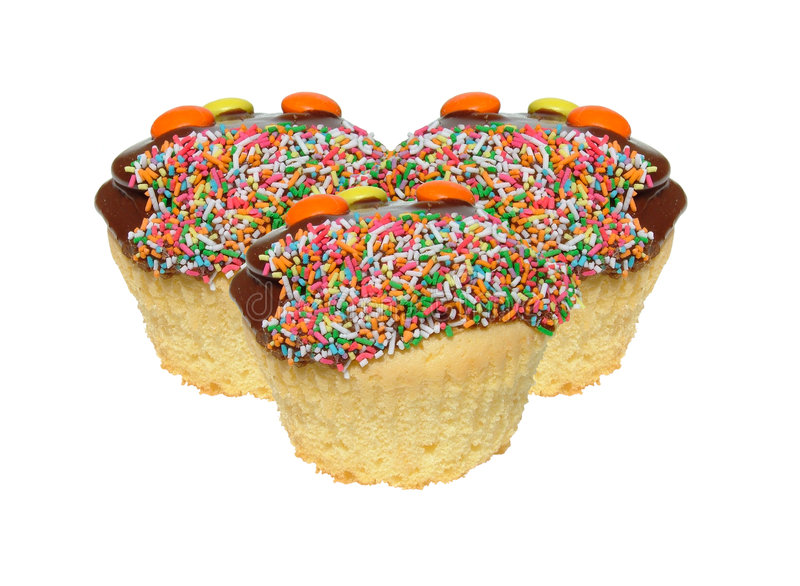 Cupcakes. With sprinkles royalty free stock photography