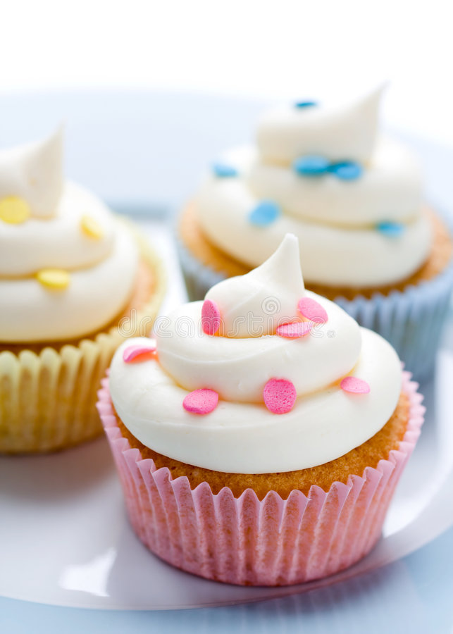 Download Cupcakes stock image. Image of colors, sweet, decorated - 8383405