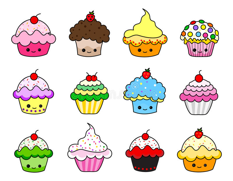 cupcakes illustration stock