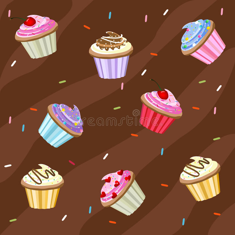 Download Cupcakes background stock vector. Image of cupcake, love - 15710309