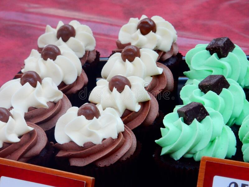 Cupcakes at Belfast Market royalty free stock photography