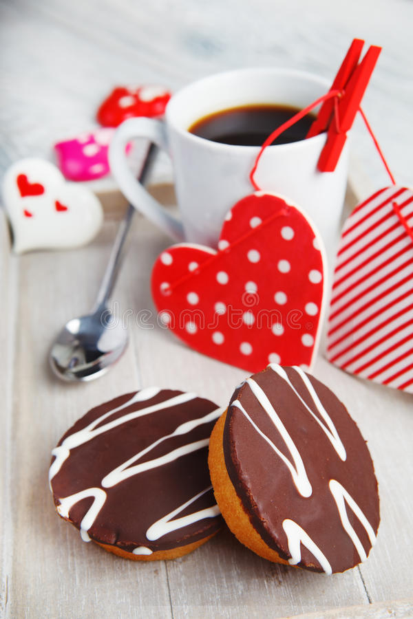Download Cupcakes And Coffee Made With Love Stock Photo - Image of festive, muffins: 28278104