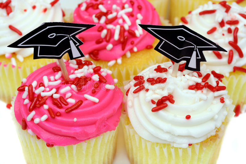 Cupcakes for Graduation stock images