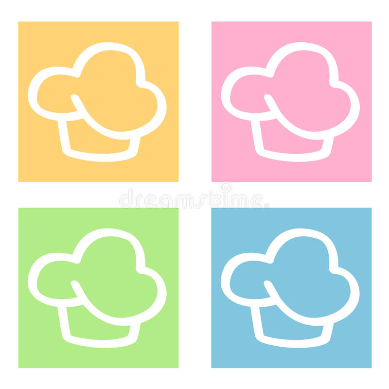 Free Cupcakes Icons Royalty Free Stock Photo - 10146005