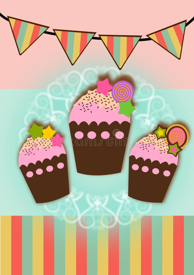 Cupcakes illustrations vector illustration