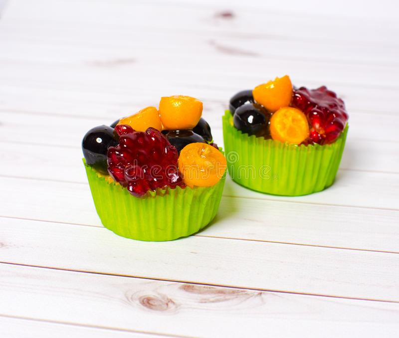 Delicious cupcakes for dessert. royalty free stock photography