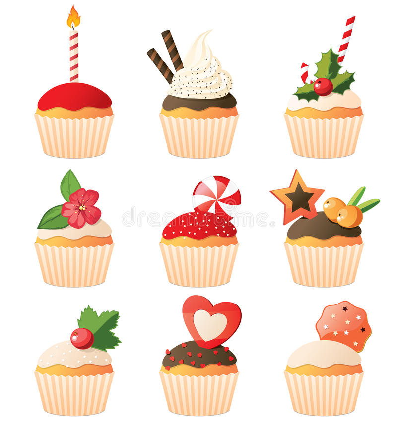 Download Cupcakes Set Royalty Free Stock Photography - Image: 23717687