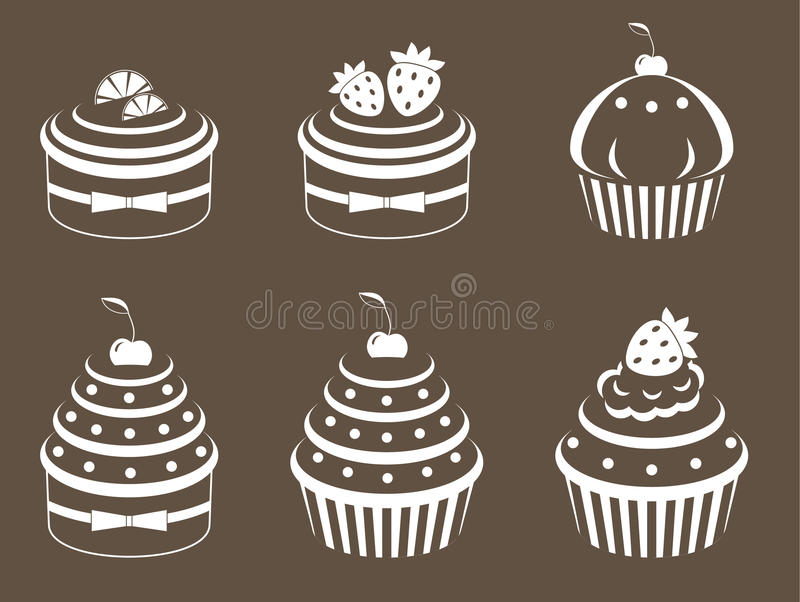 Download Cupcakes set stock vector. Image of holiday, cookies - 24084815
