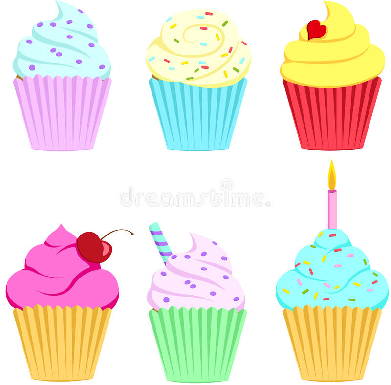 Download Cupcakes stock vector. Illustration of cupcake, gift - 36668986