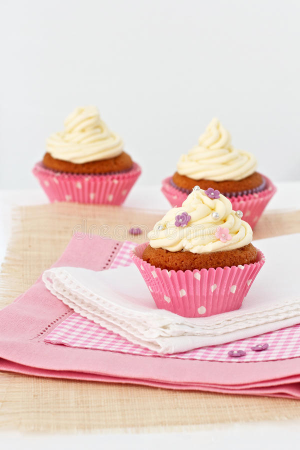 Cupcakes For Tea Stock Photography