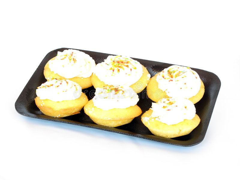 Cupcakes On Tray Stock Photography