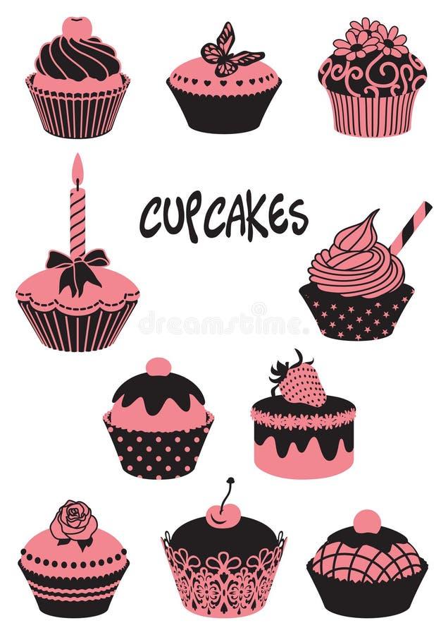 Cupcakes vector illustration