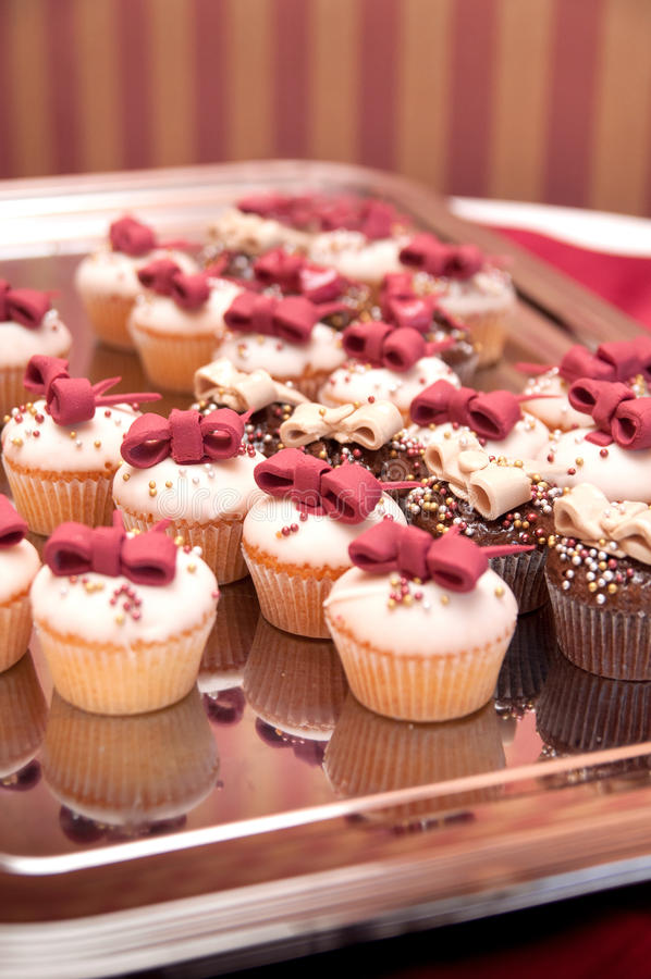 Catering - Cupcakes for wedding stock images