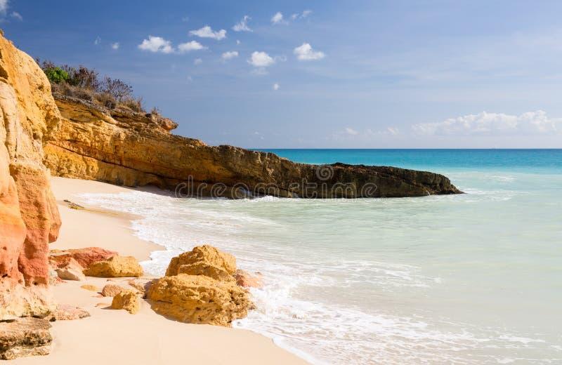 Cupecoy海滩Sint Maarten 免版税库存照片