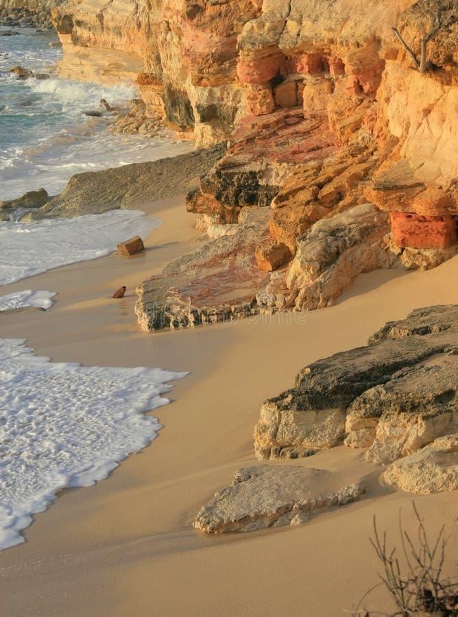 Cupecoy Cliff stock photo