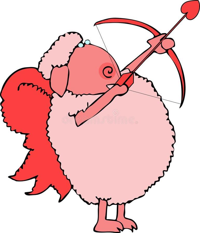 cupid πρόβατα διανυσματική απεικόνιση
