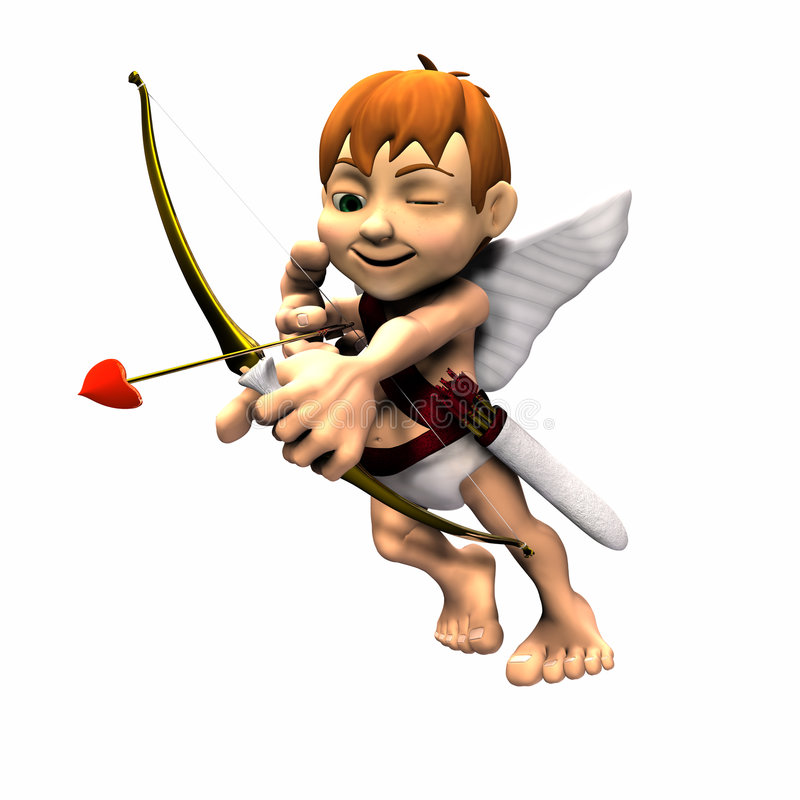 Download Cupid 2 stock illustration. Illustration of cupid, white - 1610339