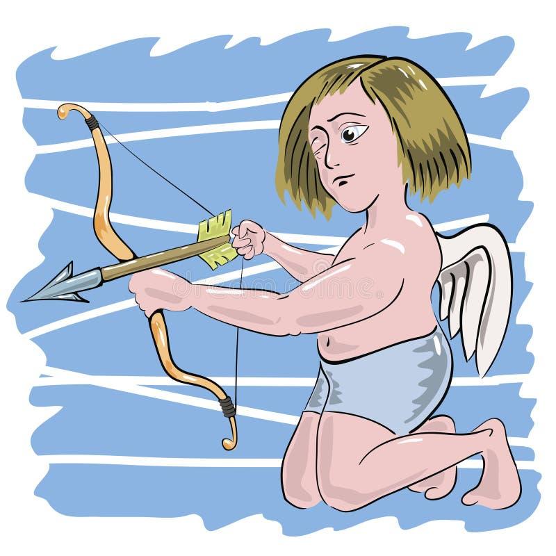Cupid royaltyfri illustrationer