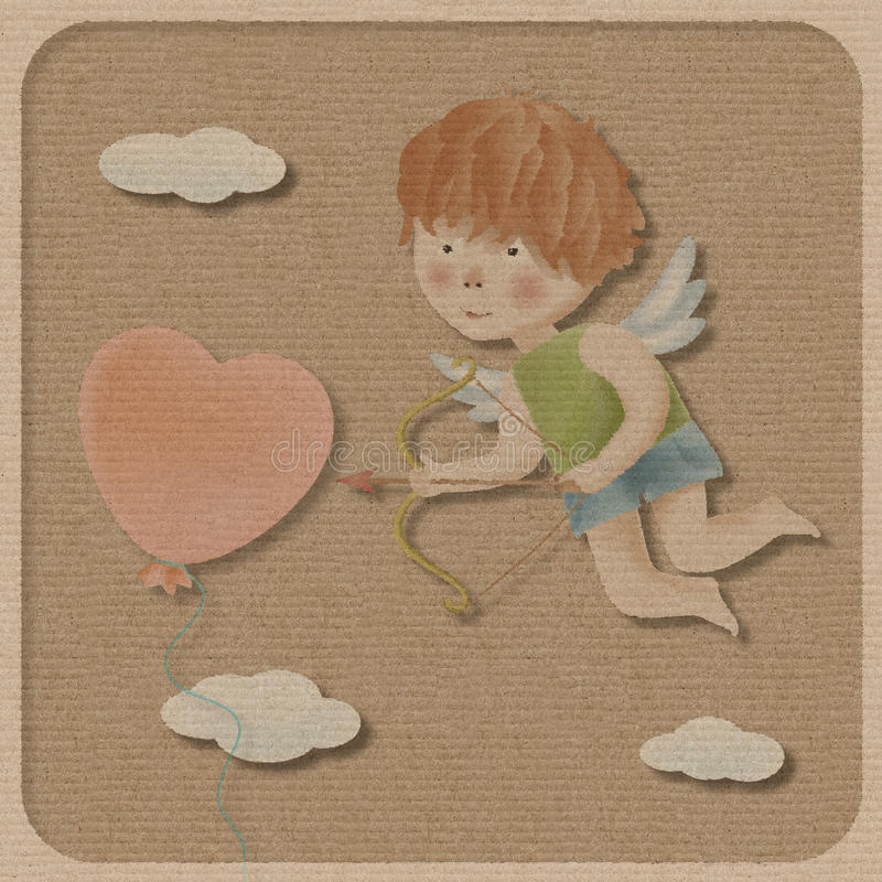 Cupid. stock illustrationer