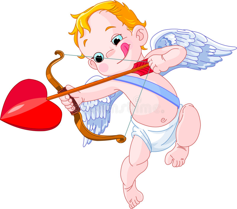 cupid royaltyfri illustrationer