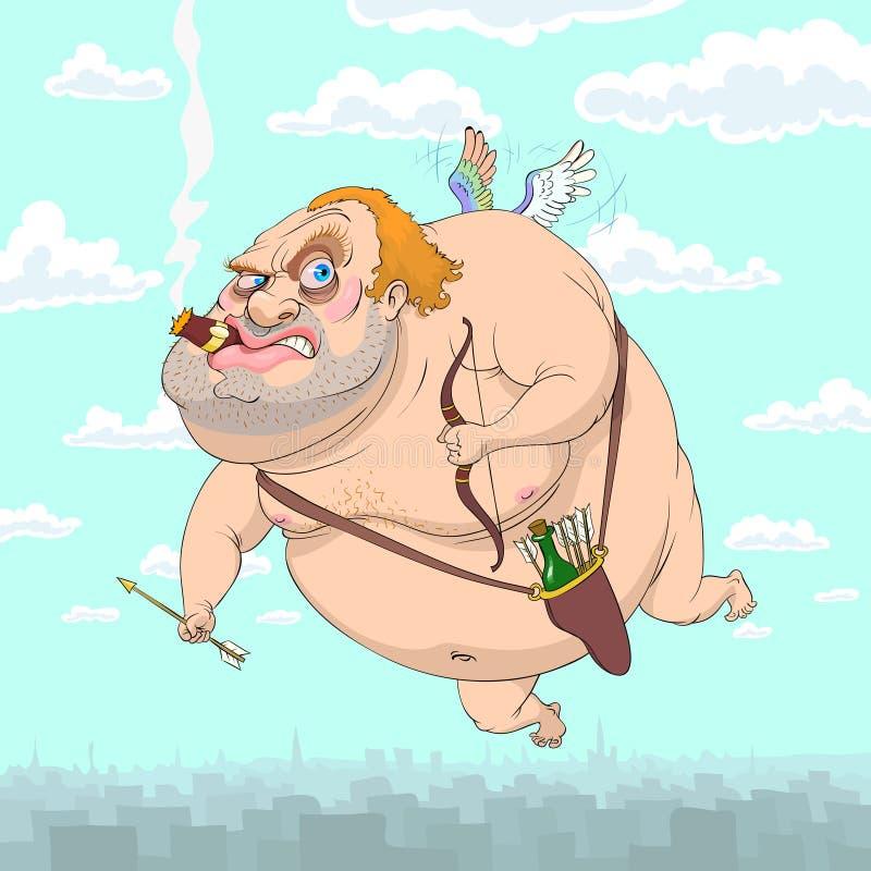Cupid adulto ilustração do vetor