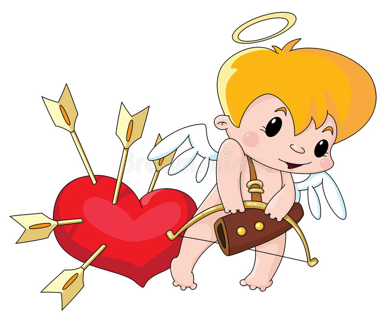Cupid bonito ilustração do vetor