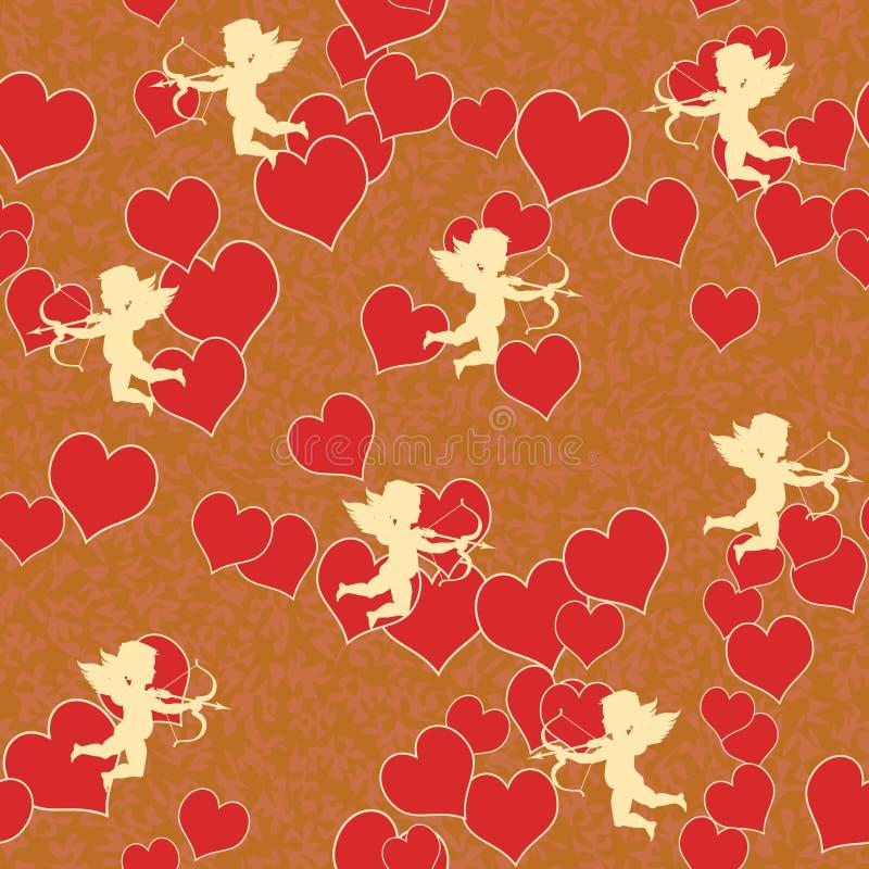 Cupid com coração ilustração do vetor