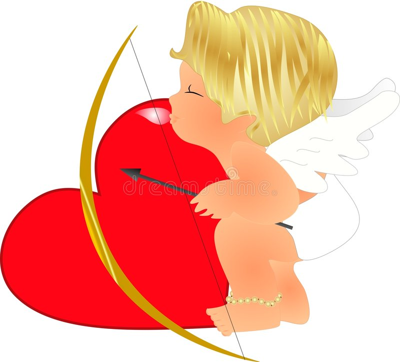 Cupid de Lil no treinamento ilustração stock