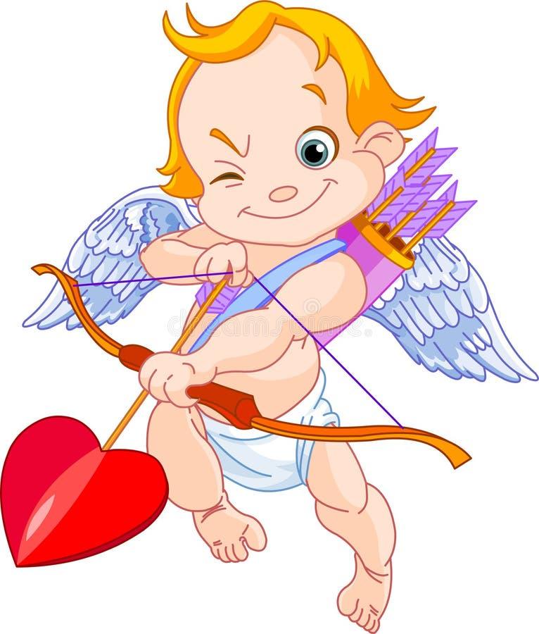 Cupid del biglietto di S. Valentino illustrazione vettoriale