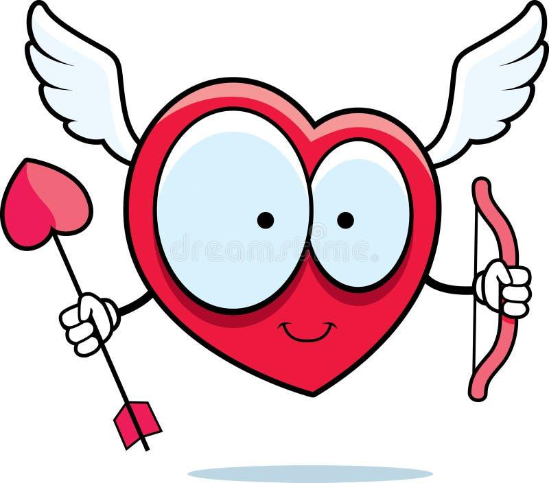 Cupid del corazón stock de ilustración
