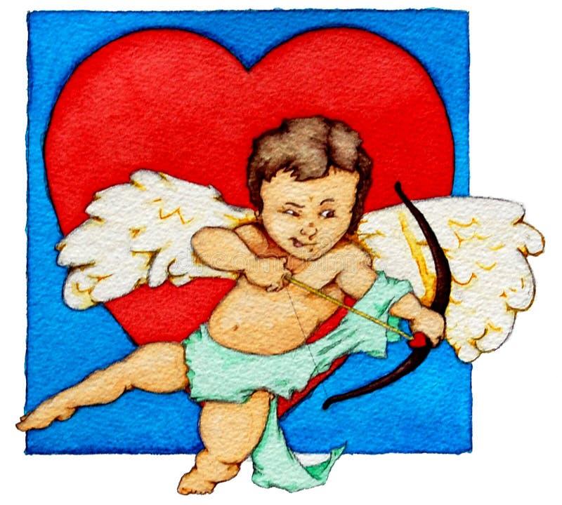 Cupid do Cherub ilustração royalty free