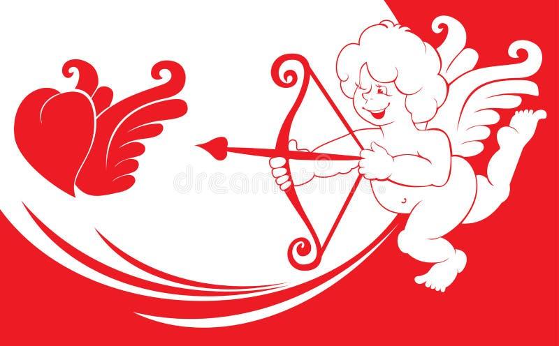 Cupid do dia do Valentim ilustração royalty free