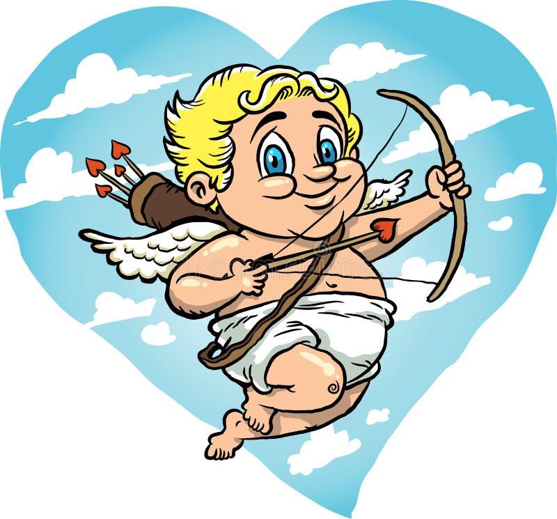 Cupid do vôo ilustração do vetor