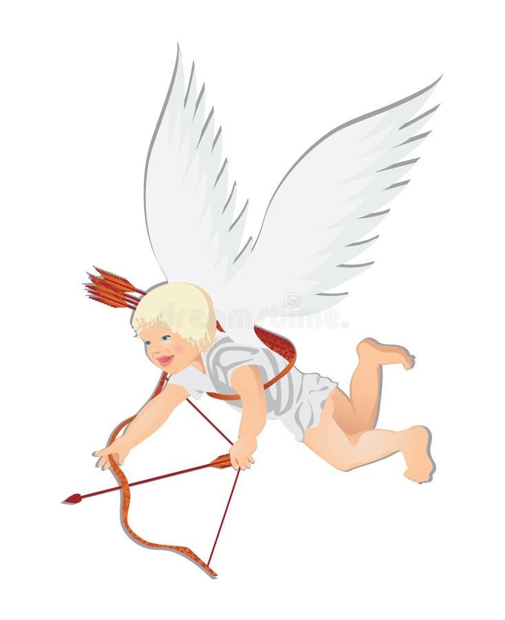 Cupid do Valentim. ilustração stock