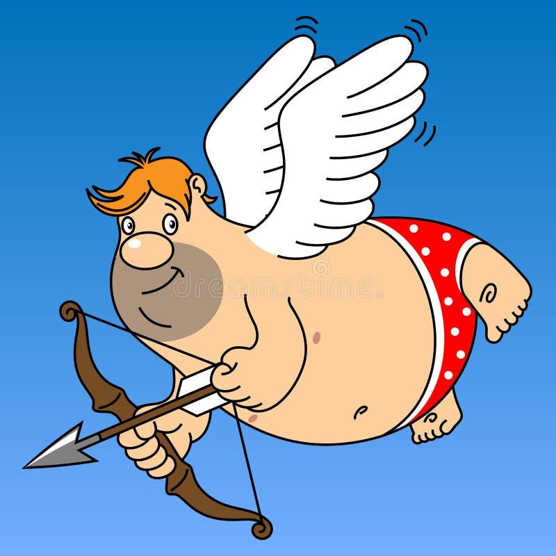 Cupid gordo ilustração royalty free