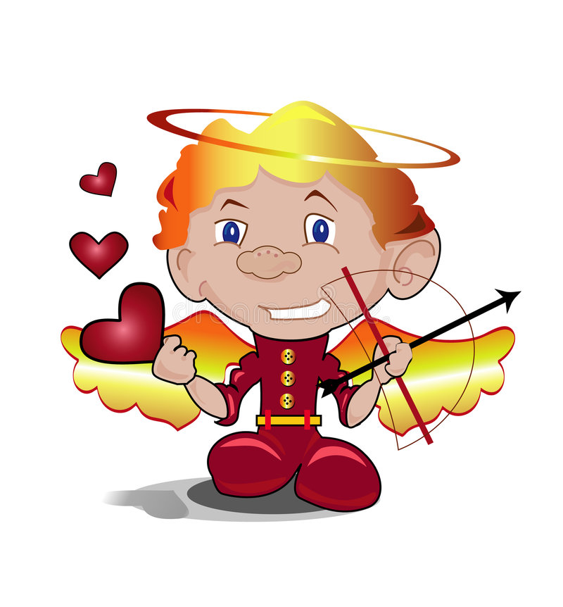 Download Cupid Illustration stock illustration. Illustration of hearts - 459522