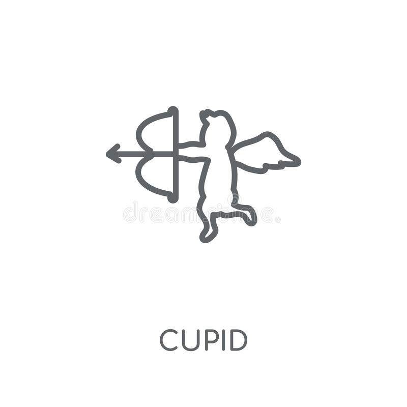 Cupid linear icon. Modern outline Cupid logo concept on white ba. Ckground from Birthday party and wedding collection. Suitable for use on web apps, mobile apps vector illustration