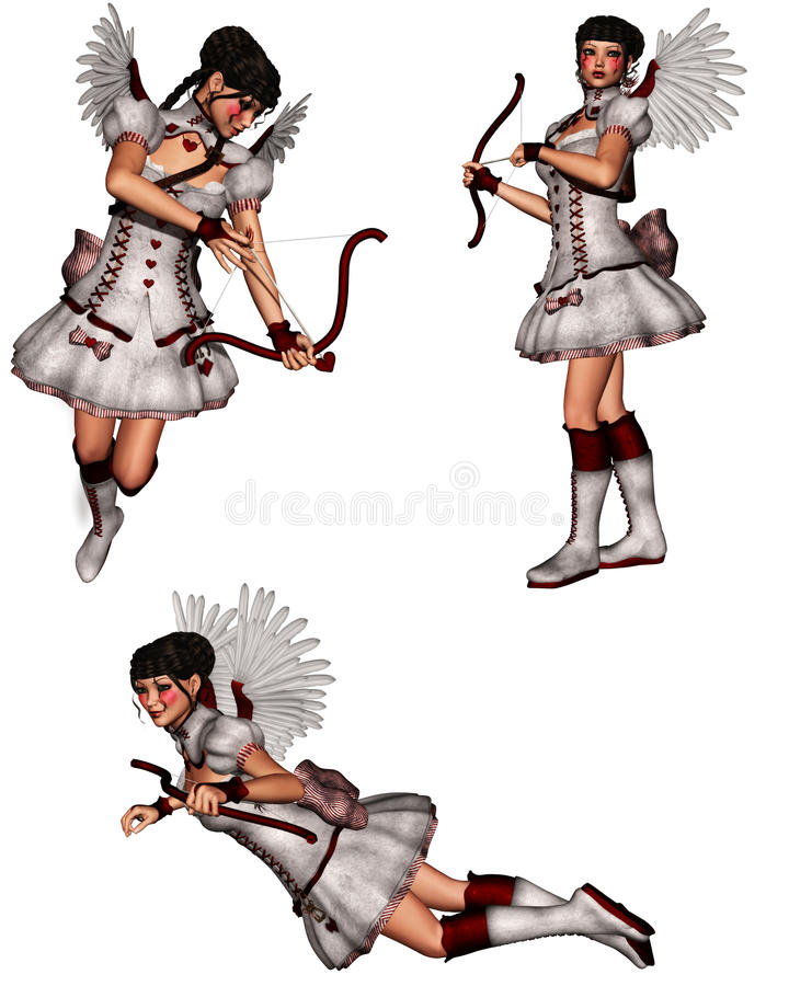 cupid little vektor illustrationer
