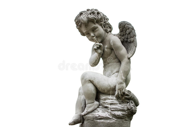 Cupid of love statue isolated royalty free stock image