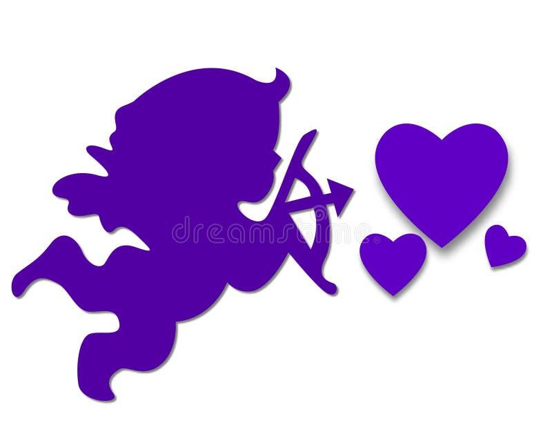 Cupid púrpura ilustración del vector