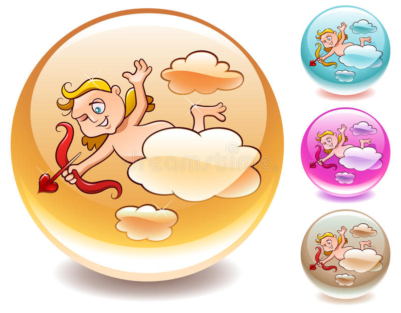 Download Cupid Releasing The Arrow Of Love Stock Vector - Illustration: 17822702