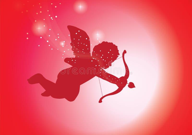 Cupid rosso royalty illustrazione gratis