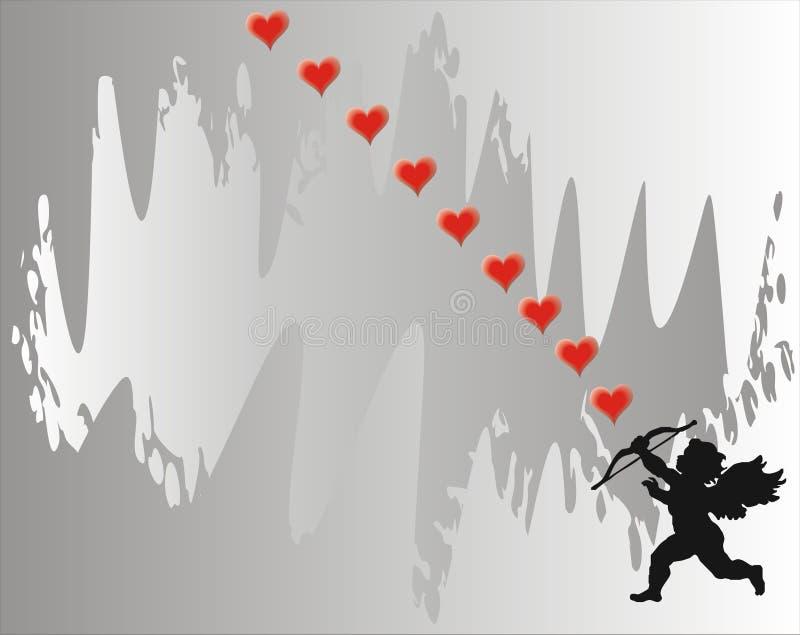 Cupid - scheda di amore - vettore royalty illustrazione gratis