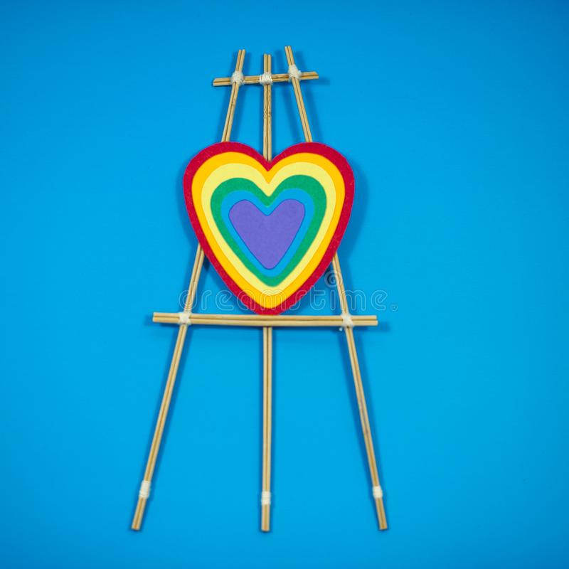 Cupid set, bullseye with gay flag royalty free stock images