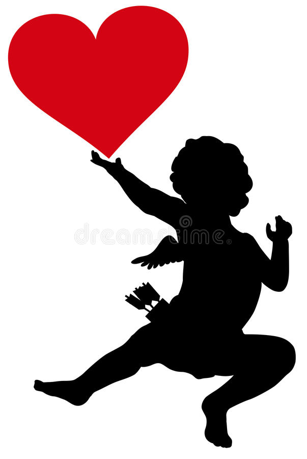 Free Cupid Silhouette Royalty Free Stock Images - 37050299