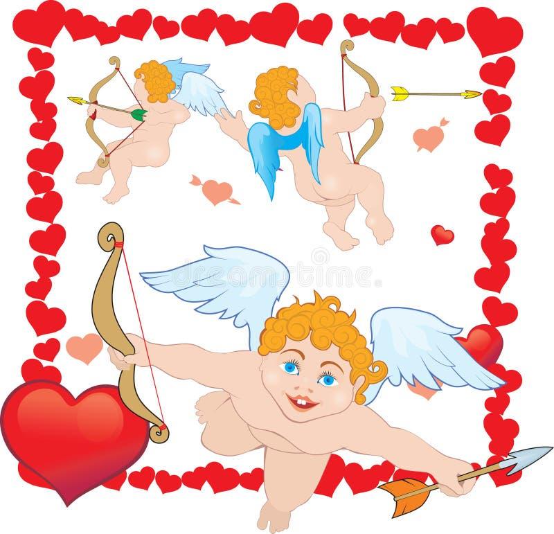 Cupid três ilustração royalty free