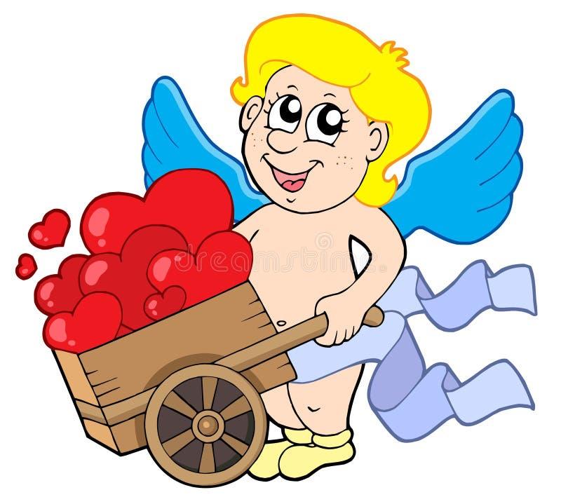 Free Cupid With Wheelbarrow Royalty Free Stock Image - 7654836